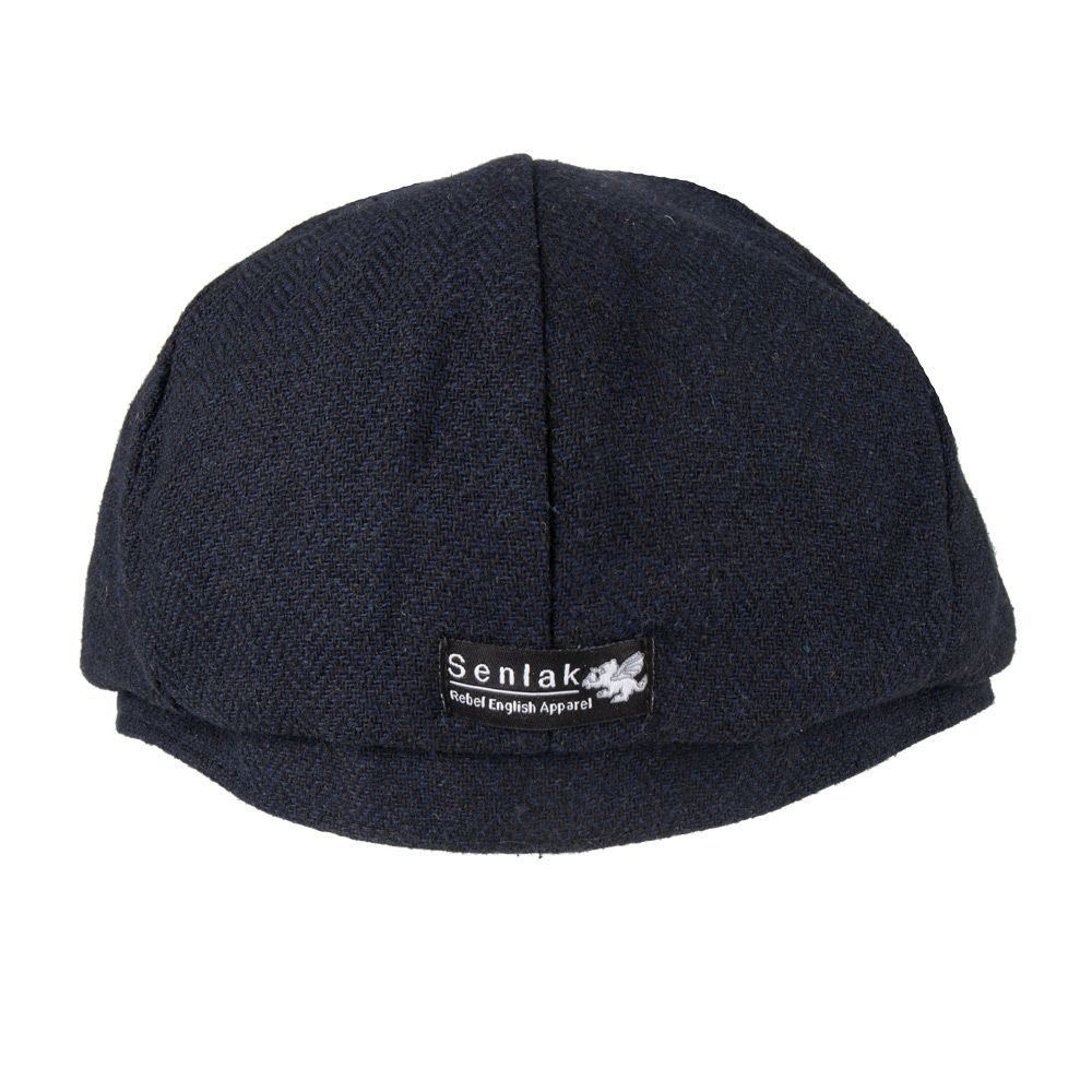 32f2507780e0c Senlak Herringbone Weave Blinders Cap - Navy
